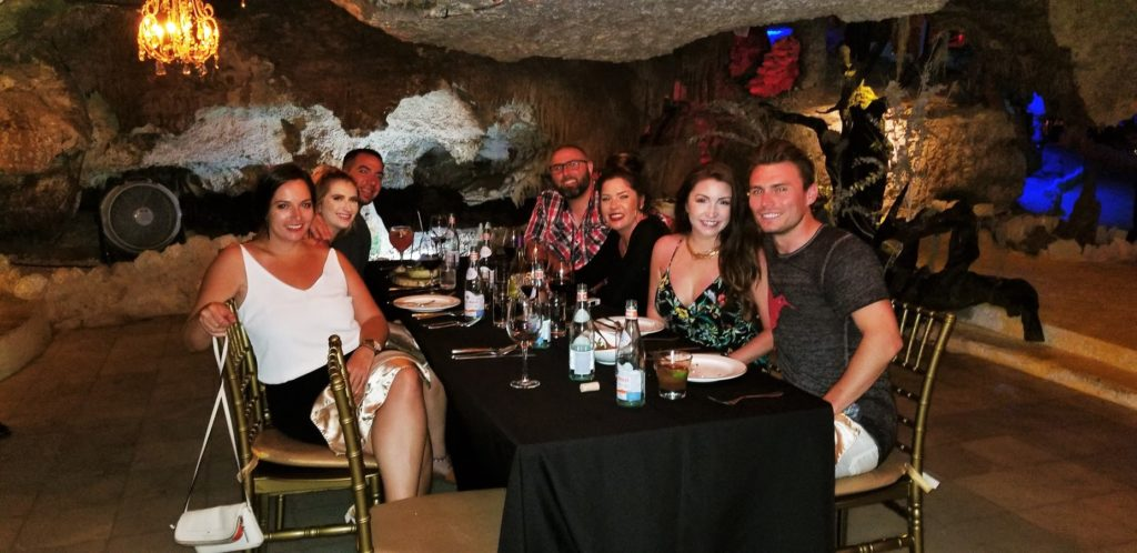 A group in a private room at Alux restaurant in Playa del Carmen