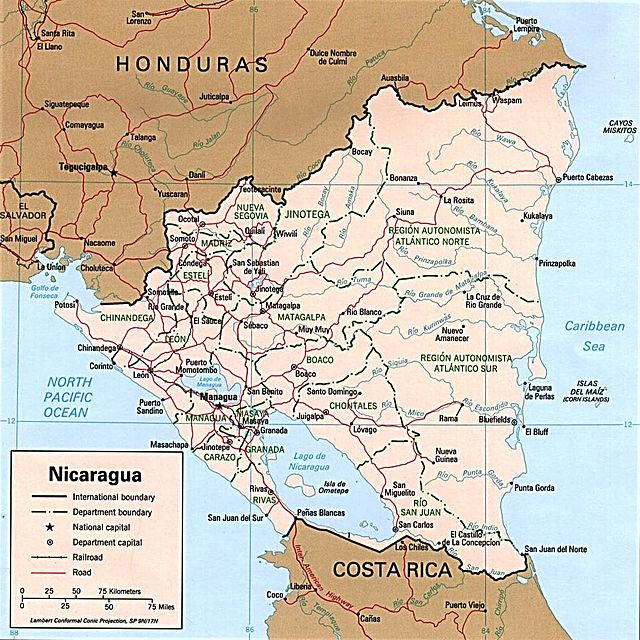 map of pacific coast nicaragua