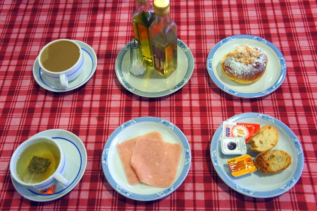 Typical Breakfast in Fatima Portgual