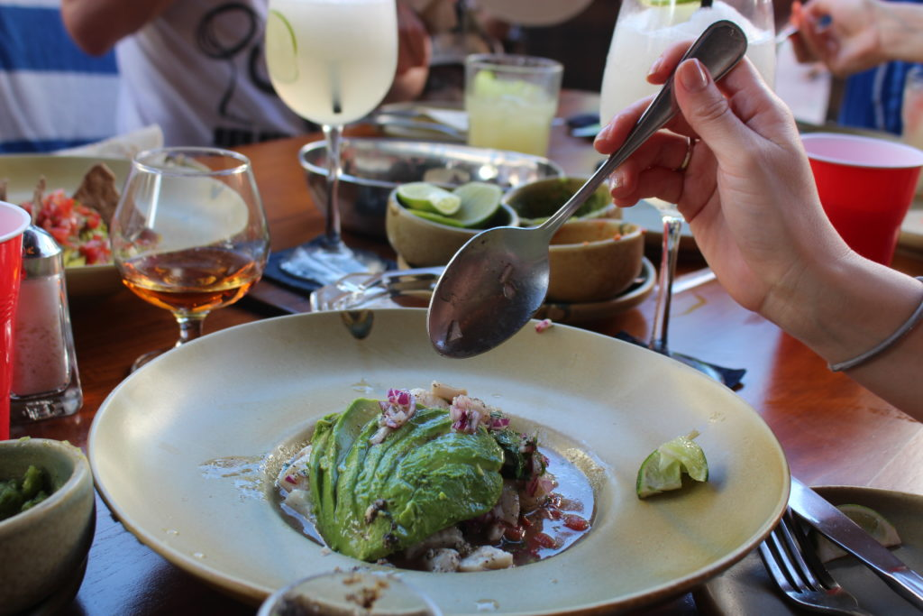 Ceviche at Patio 8 in Playa del Carmen