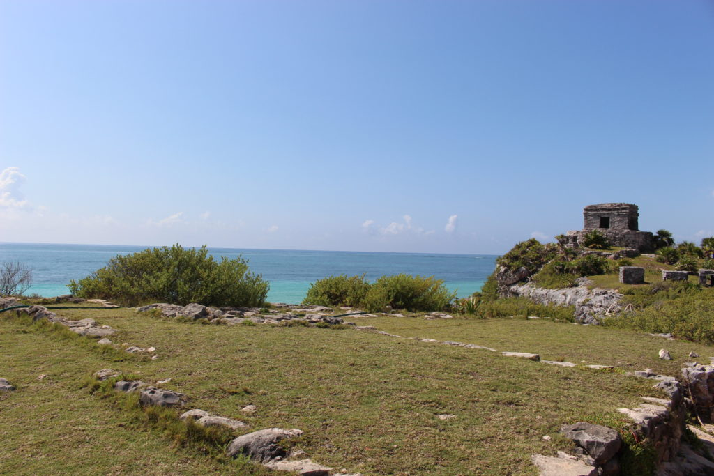 Mayan Ruins overlooking the ocean in Tulum, Mexico