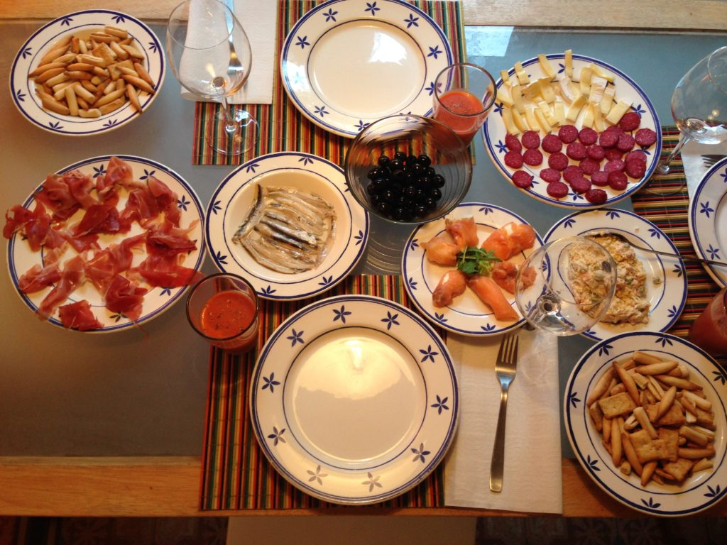 Spanish meal at an AirBnB