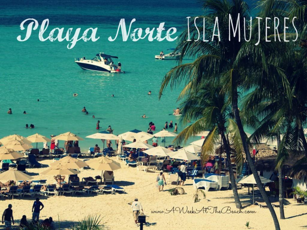Playa Norte Beach on Isla Mujeres Mexico