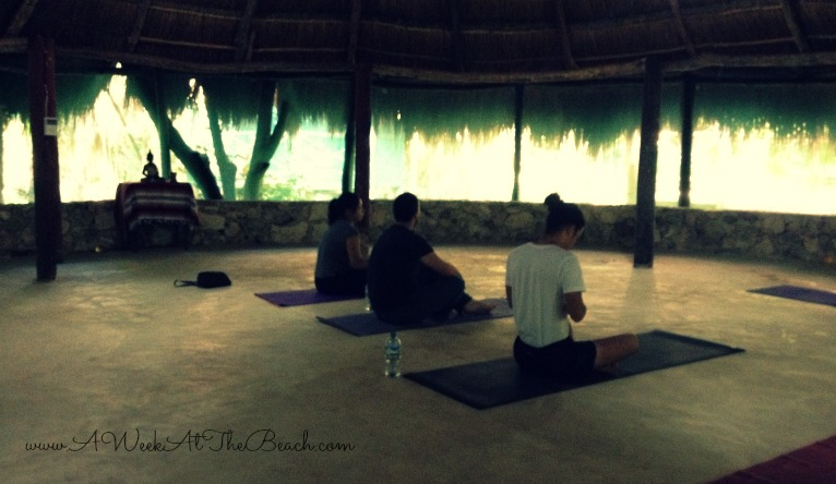 Yoga class at the Papaya Playa Project in Tulum