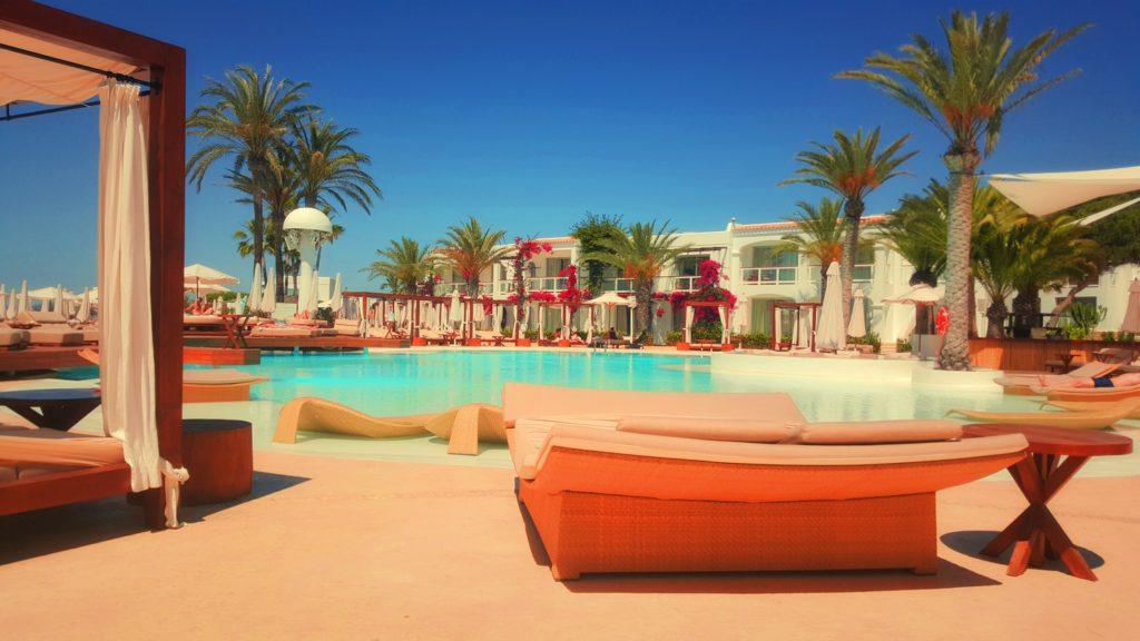 Pool at a resort on the Mediterranean Island of Ibiza